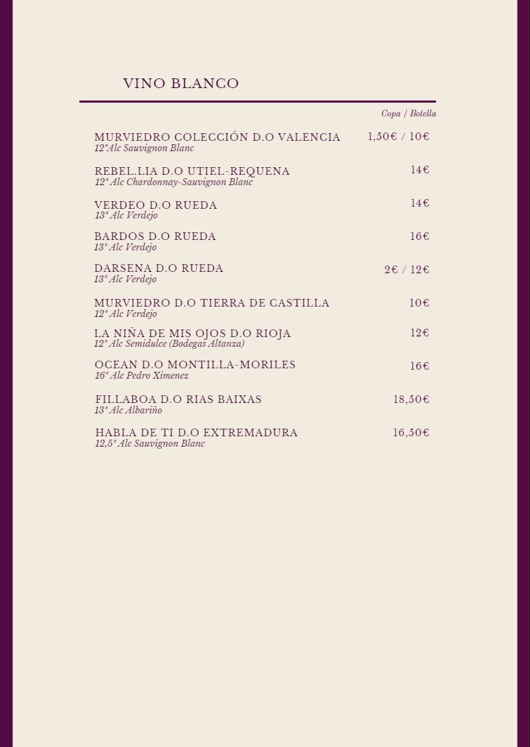 Carta de vinos 2